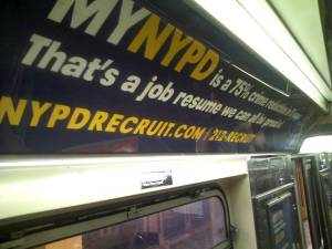 NYPD\'s Recruiting Ad, on the 1 Train